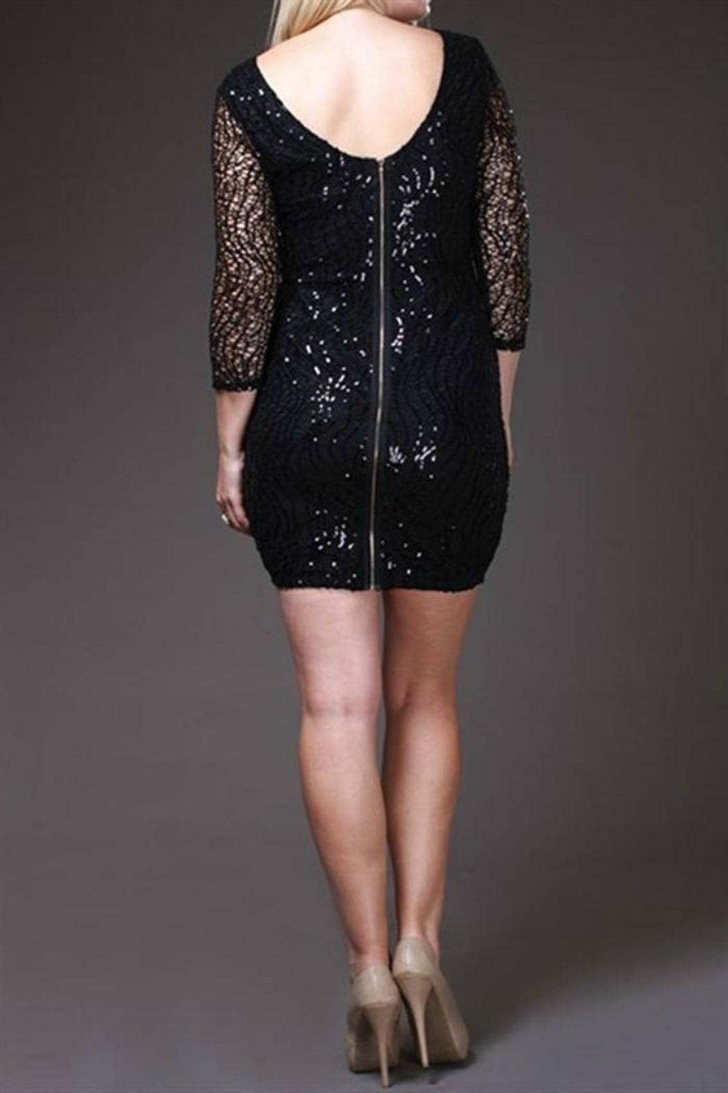 SJ Style Black Sequin-Plus Size - Back Cropped Image