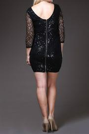 SJ Style Black Sequin-Plus Size - Back cropped