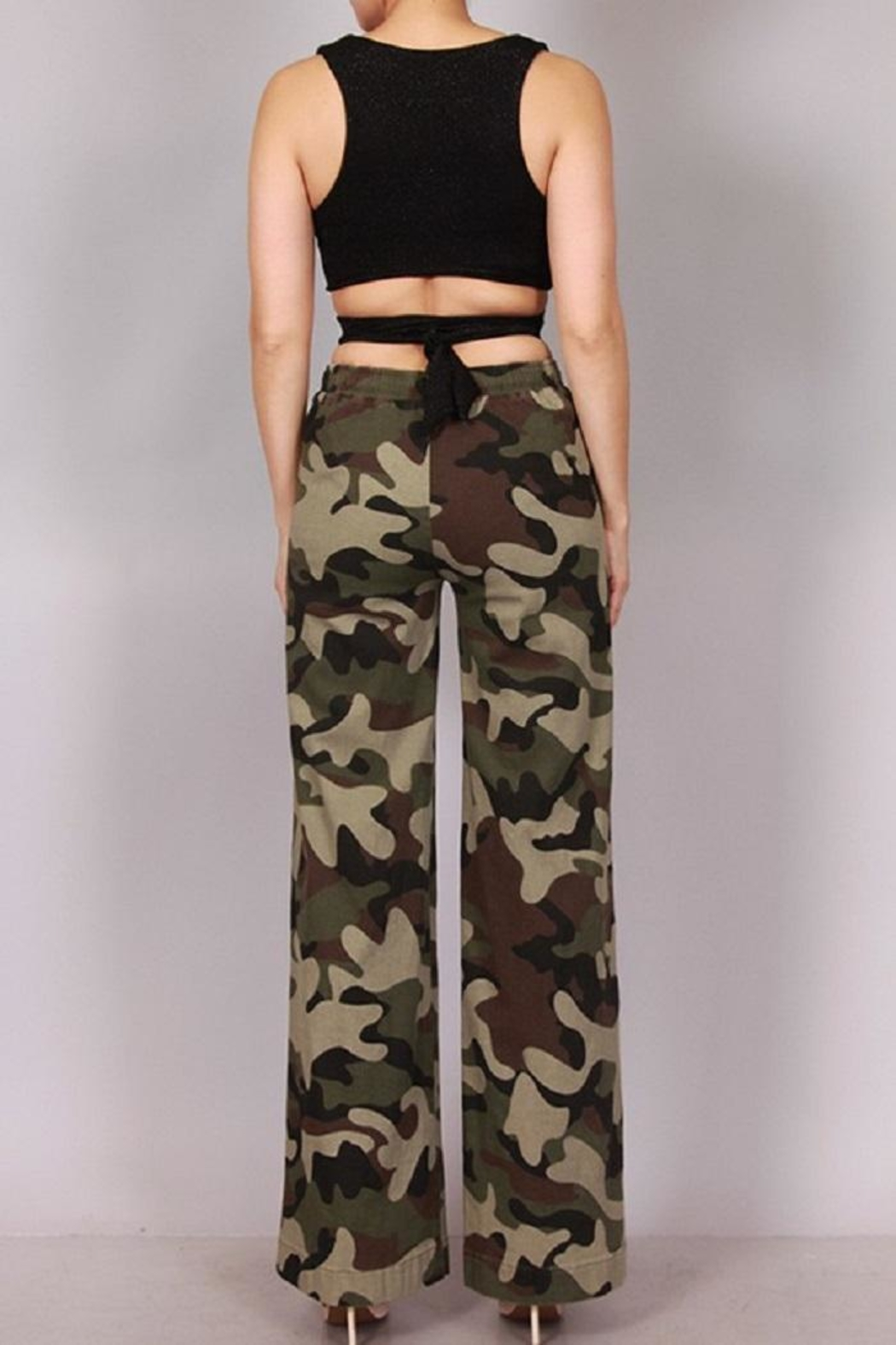 SJ Style Camo Wide Legs - Front Full Image