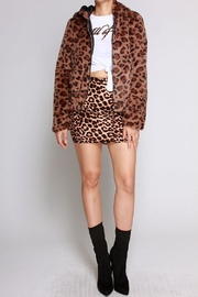 SJ Style Leopard Hoodie Coat - Front cropped