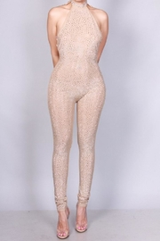 SJ Style Mesh Rhinestone Jumpsuit - Front cropped