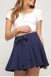 She & Sky  Skater skirt with waist sash - Product Mini Image