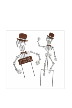 MudPie Skeleton Tin Yard Stake - Alternate List Image