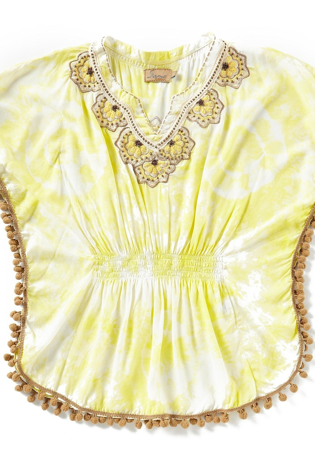 Skemo Yellow Tiedye Coverup - Front Cropped Image