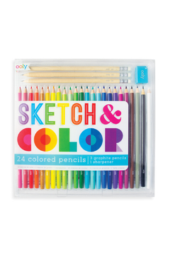 Ooly Sketch & Color 24 Colored Pencils: 28 Piece Set - Product List Image