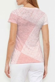 Whimsy Rose Sketch Coral V-Neck Tee - Front full body