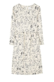 Compania Fantastica Sketched Dogs Dress - Back cropped