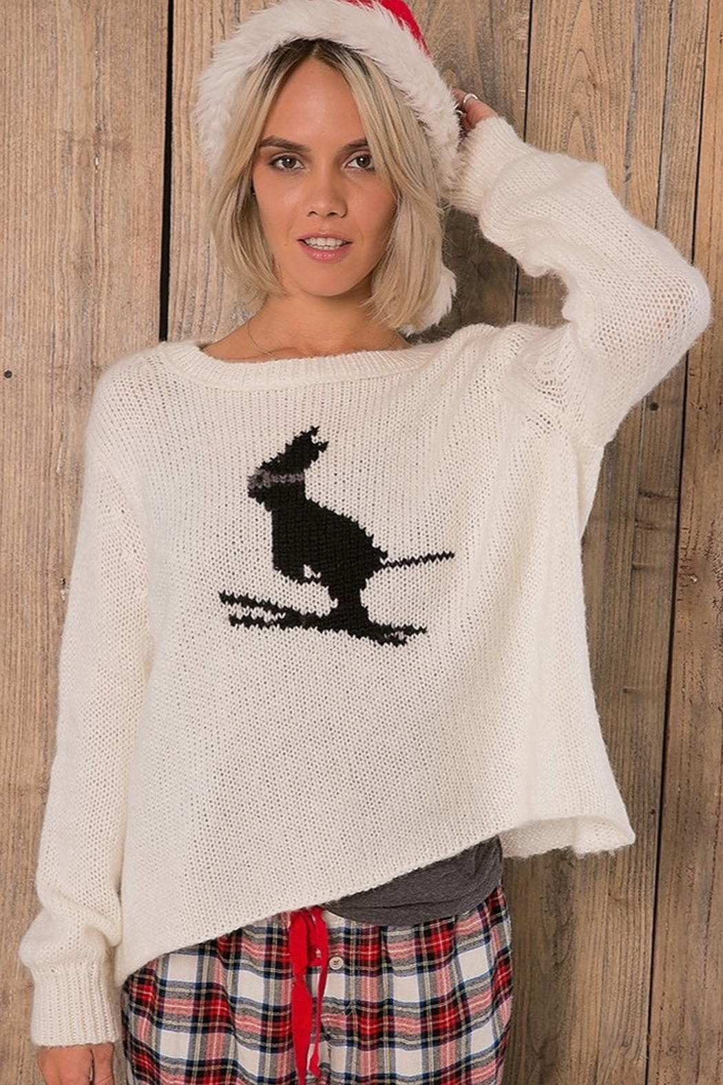Wooden Ships SKI BUNNY SWEATER - Front Full Image