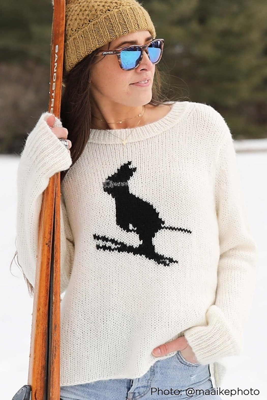 Wooden Ships SKI BUNNY SWEATER - Front Cropped Image