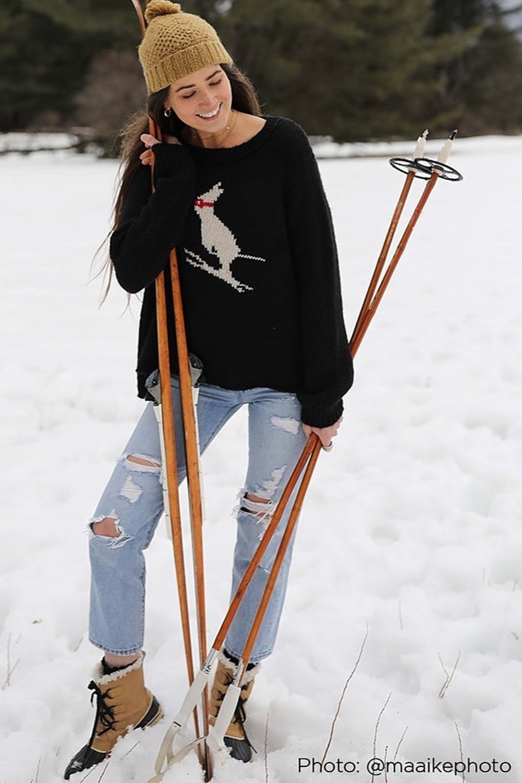 Wooden Ships SKI BUNNY SWEATER - Side Cropped Image