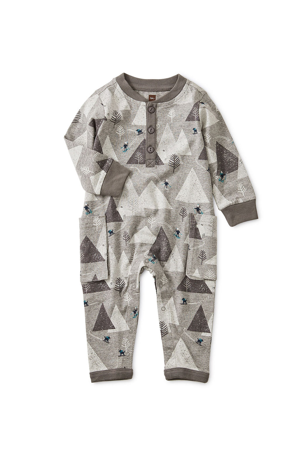 Tea Collection Ski Mountains Romper - Main Image