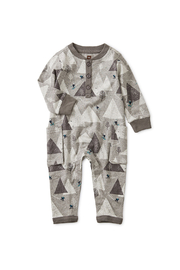 Tea Collection Ski Mountains Romper - Front cropped