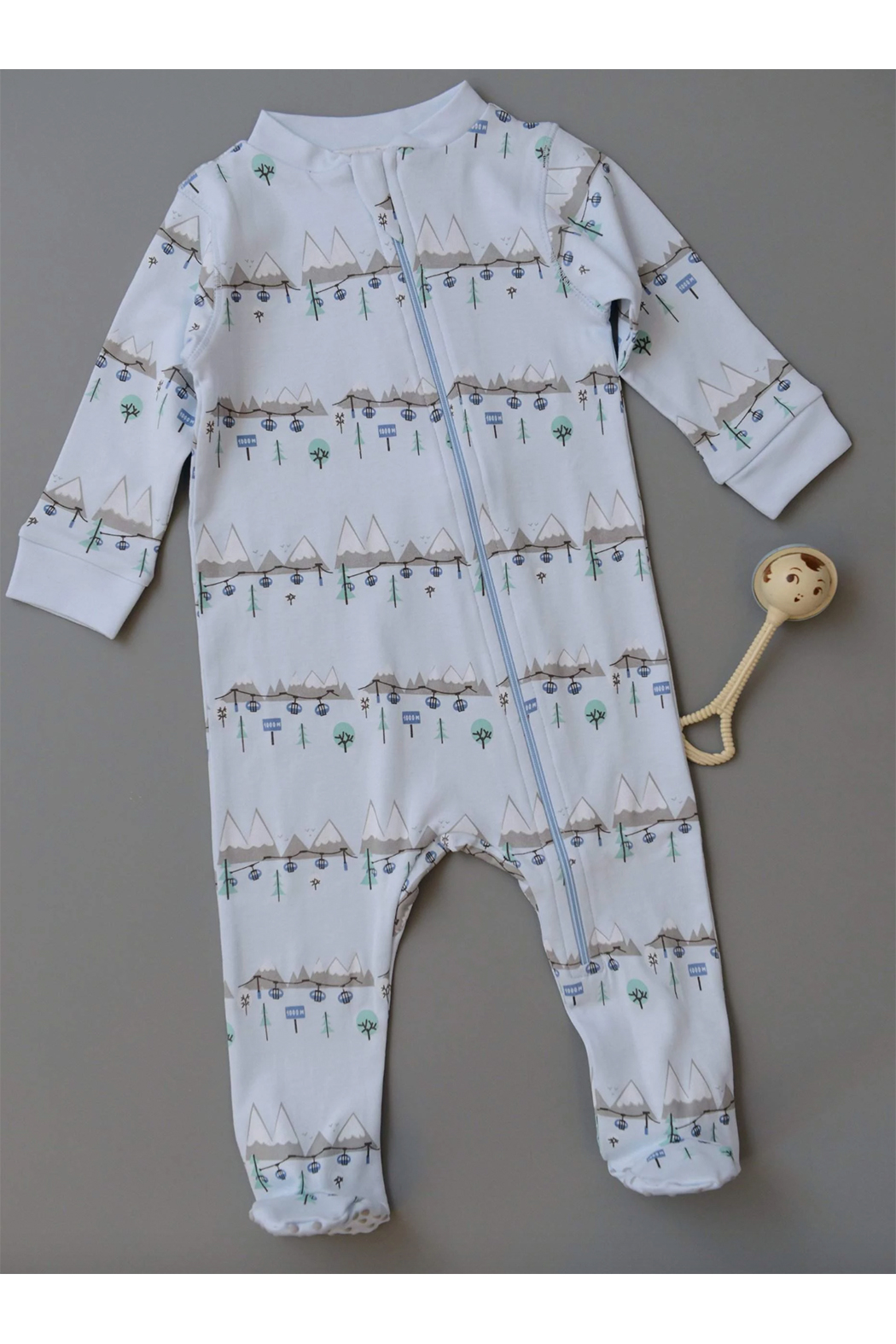 Feather Baby Ski Trip Zipper Footie - Main Image