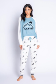 PJ Salvage Ski You Later Lounge Top - Front cropped