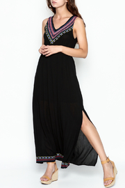 Skies Are Blue Black Maxi Dress - Front cropped