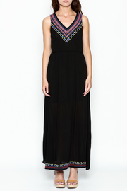 Skies Are Blue Black Maxi Dress - Front full body