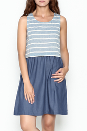 Skies Are Blue Blue And White Dress - Front cropped