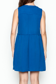 Skies Are Blue Blue Button Up Dress - Back cropped