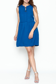 Skies Are Blue Blue Button Up Dress - Side cropped