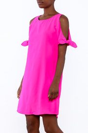Skies Are Blue Bright Pink Dress - Product Mini Image