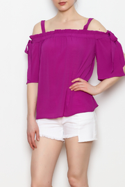 Skies Are Blue Cold Shoulder Top - Side cropped