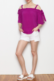 Skies Are Blue Cold Shoulder Top - Other