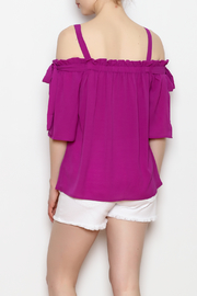 Skies Are Blue Cold Shoulder Top - Back cropped
