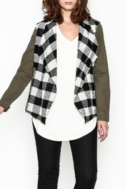 Skies Are Blue Plaid Cargo Jacket - Front cropped