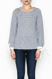 Skies Are Blue Preppy Striped Top - Front full body