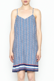 Skies Are Blue Printed Summer Dress - Front full body