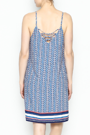 Skies Are Blue Printed Summer Dress - Back cropped