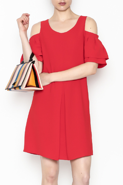 Skies Are Blue Red Hot Dress - Product List Image