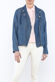 Skies Are Blue Denim Moto Jacket - Product Mini Image
