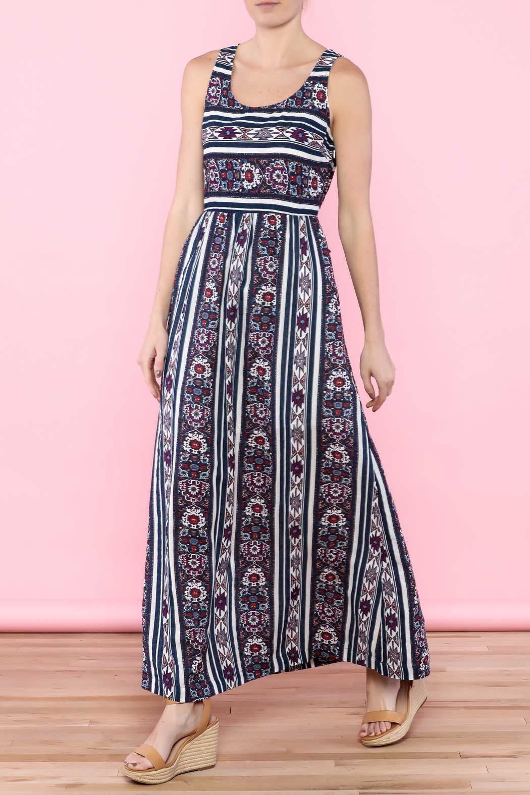 Skies Are Blue Navy Maxi Dress - Main Image