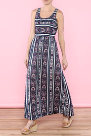 Skies Are Blue Navy Maxi Dress - Front full body