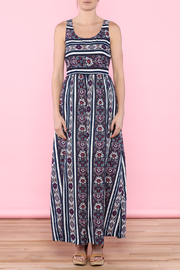 Skies Are Blue Navy Maxi Dress - Front cropped