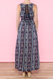 Skies Are Blue Navy Maxi Dress - Back cropped