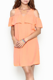 Skies Are Blue Tangerine Dreams Dress - Product Mini Image