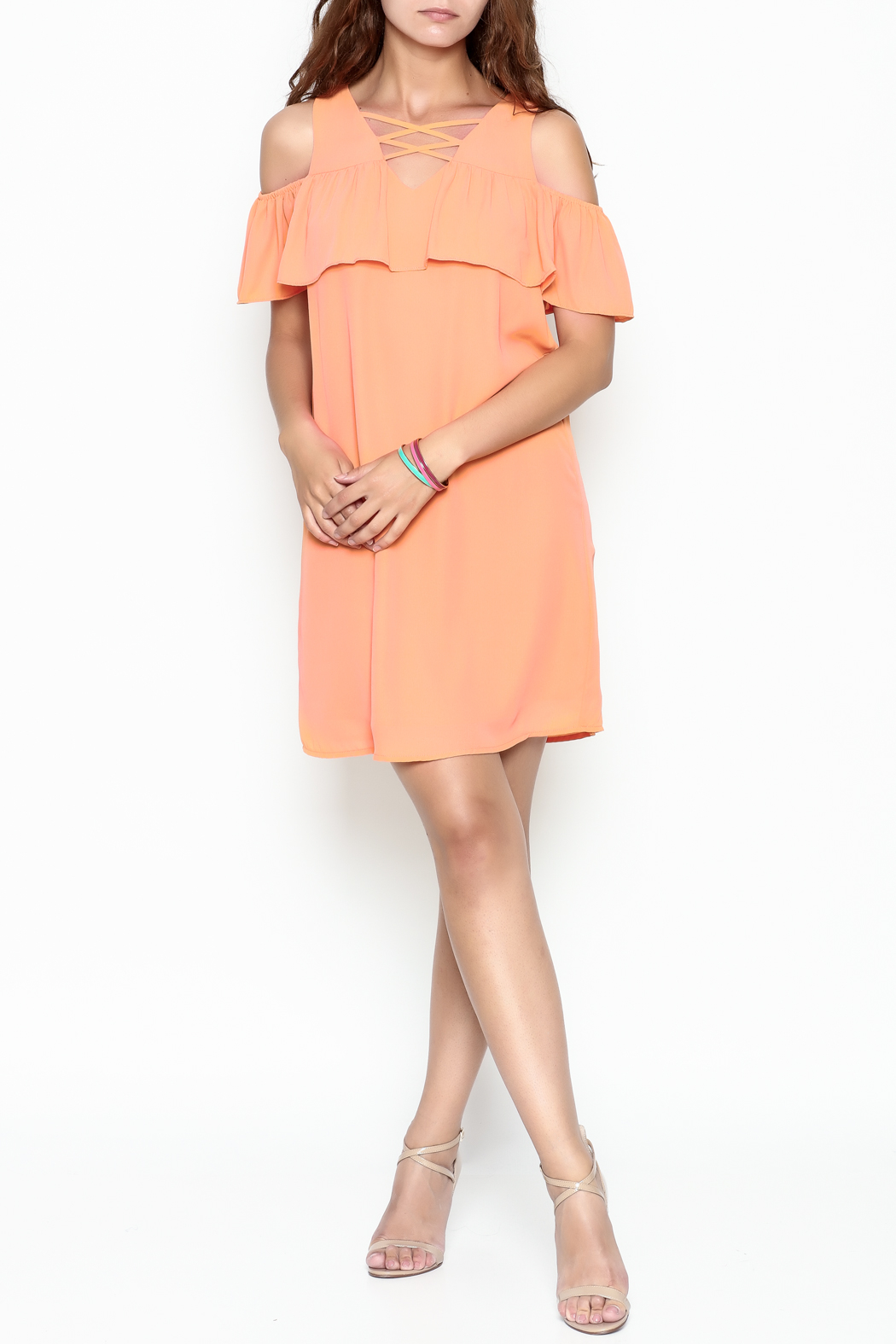 Skies Are Blue Tangerine Dreams Dress - Side Cropped Image