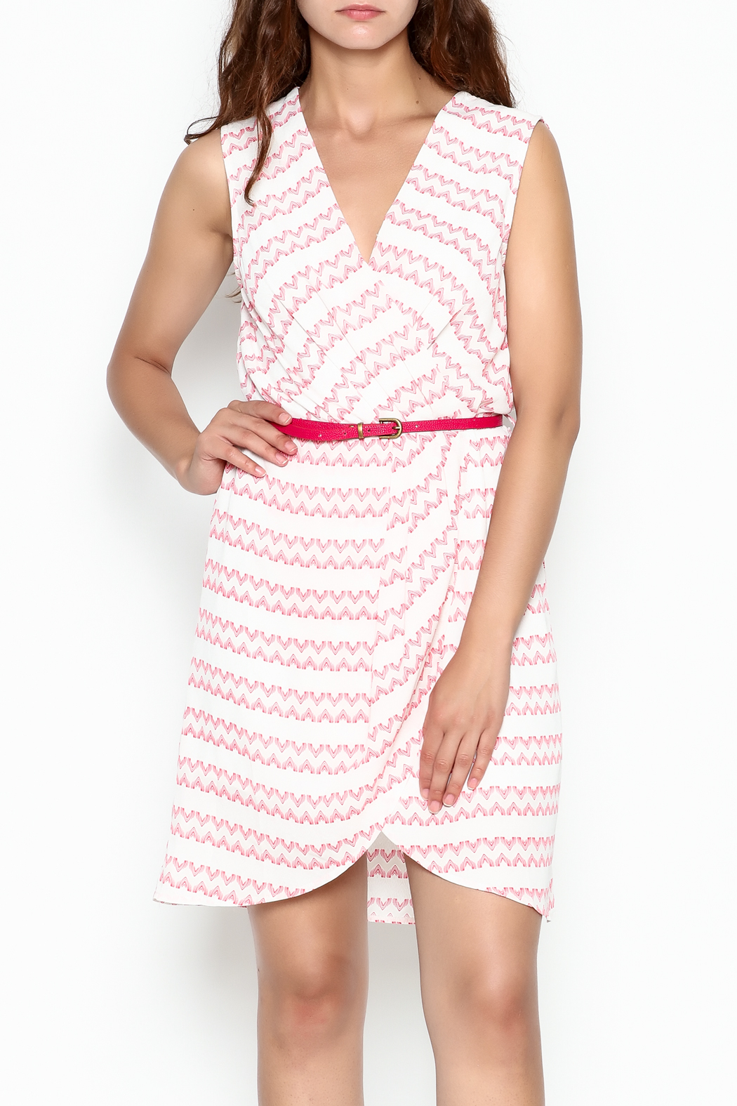 Skies Are Blue White And Pink Dress - Main Image