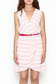 Skies Are Blue White And Pink Dress - Front full body