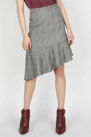 Skies Are Blue Asymmetrical Plaid Skirt - Product Mini Image