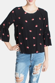 Skies Are Blue Berry Flutter Sleeves Blouse - Product Mini Image