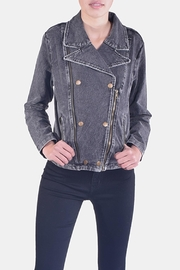 Skies Are Blue Charcoal-Wash Denim Jacket - Front cropped
