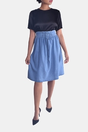 Skies Are Blue Corset Denim Skirt - Front full body