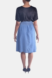 Skies Are Blue Corset Denim Skirt - Back cropped