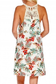 Skies Are Blue Cream Floral Dress - Front full body