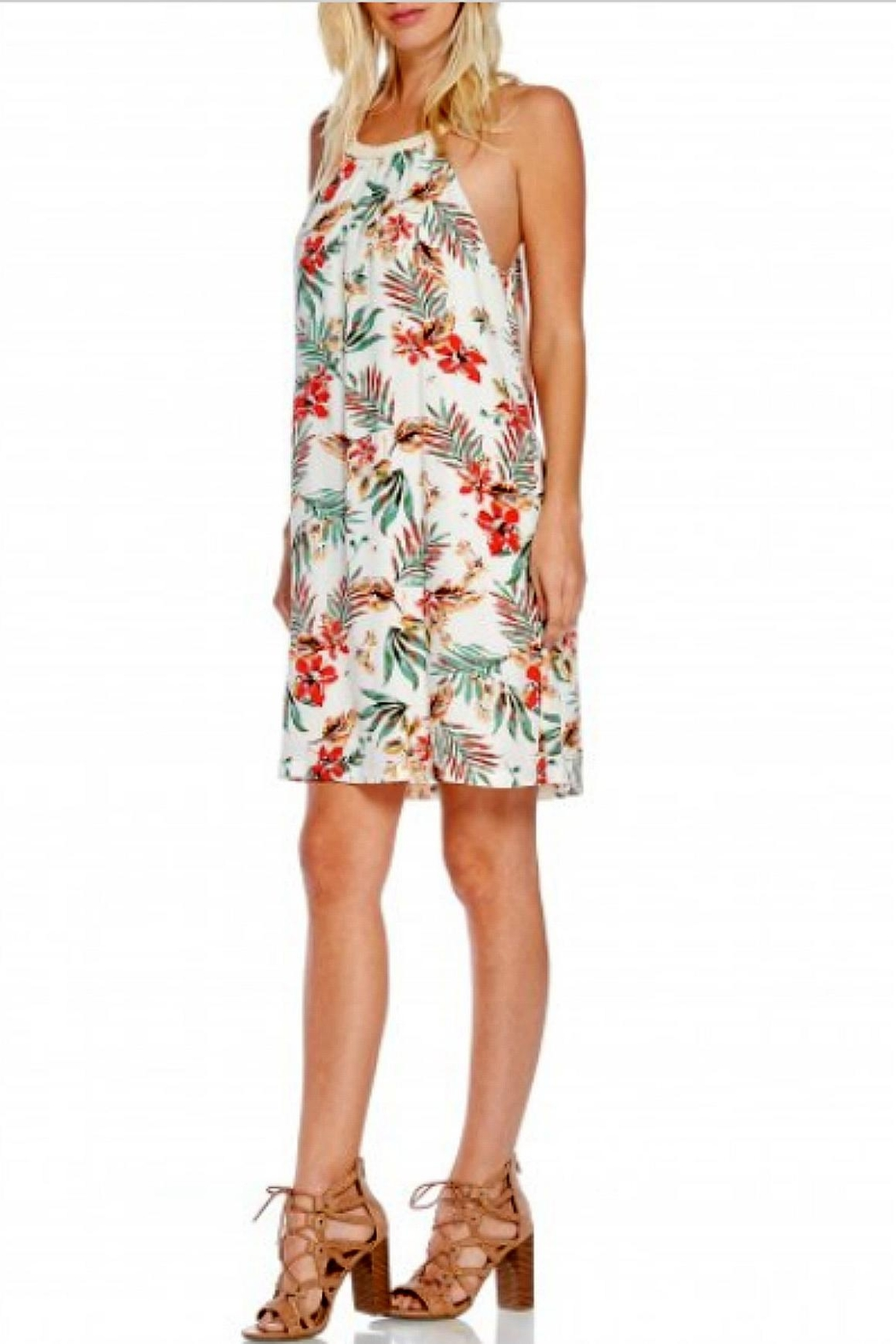 Skies Are Blue Cream Floral Dress - Main Image