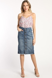 Skies Are Blue Denim Midi Skirt - Product Mini Image
