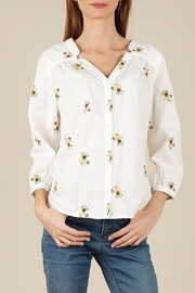 Skies Are Blue Embroidered Floral Top - Front cropped